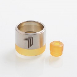 Replacement Tank Tube + 510 Drip Tip Kit for KF Prime Nite DLC Style RTA - Silver, 316 Stainless Steel + PEI
