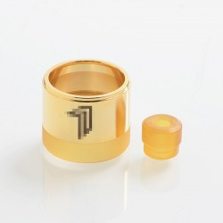 Replacement Tank Tube + 510 Drip Tip Kit for KF Prime Nite DLC Style RTA - Gold, 316 Stainless Steel + PEI