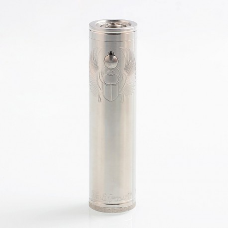 TF Scarab Pro 25mm Style Mechanical Mod - Silver, Stainless Steel, 1 x 18350 / 18650 / 20700 / 21700