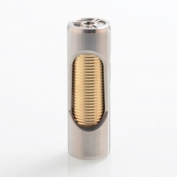 YFTK Noname Oldboy Style Hybrid Mechanical Tube Mod - Silver, 316 Stainless Steel + Brass, 1 x 18650