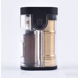 ShenRay Armor Style BF Squonk Mechanical Box Mod Updated Version w/ Chip - Clear, Acrylic + Stainless Steel + Brass, 1 x 18650