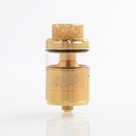 Authentic Wotofo Profile Unity RTA Rebuildable Tank Atomizer - Gold, Stainless Steel, 5ml, 25mm Diameter