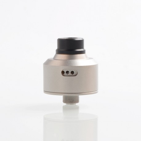 SXK FLVR Style RDA Rebuildable Dripping Atomizer w/ BF Pin - Satin Silver, 316 Stainless Steel, 22mm Diameter