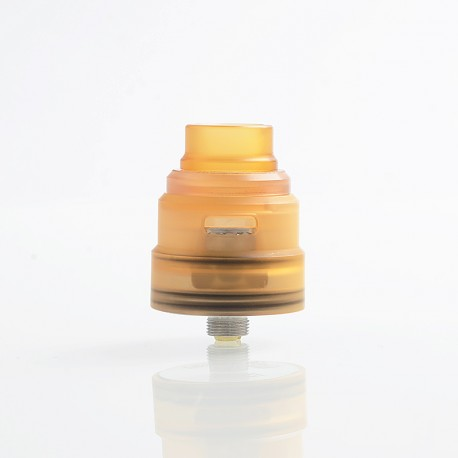 Reload S Style RDA Rebuildable Dripping Atomizer w/ BF Pin - Yellow, Acrylic + Stainless Steel, 24mm Diameter