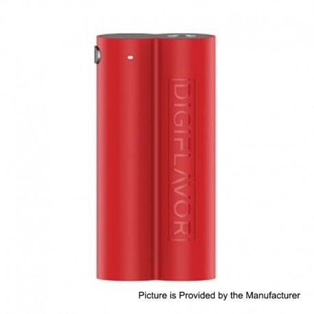 Authentic Digiflavor Lunar Box Mod - Red, ABS, 2 x 18650