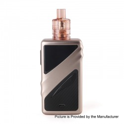Authentic Smoant Taggerz 200W TC VW Variable Wattage Box Mod + Disposable Tank Kit - Rose Gold, 1~200W, 2 x 18650, 2ml, 0.2 Ohm
