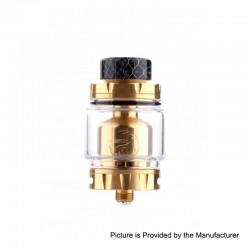 Authentic Hellvape Rebirth RTA Rebuildable Tank Atomizer - Gold, 5ml, 25mm Diameter