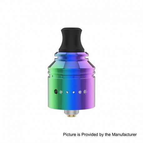 Authentic Vapefly Holic MTL RDA Rebuildable Dripping Atomizer w/ BF Pin - Rainbow, Stainless Steel, 22.2mm Diameter