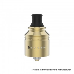 Authentic Vapefly Holic MTL RDA Rebuildable Dripping Atomizer w/ BF Pin - Gold, Stainless Steel, 22.2mm Diameter