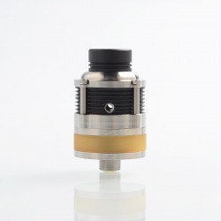 SXK PyroGeyser Style RDTA Rebuildable Dripping Tank Atomizer w/ BF Pin - Silver, 316 Stainless Steel + PEI, 22mm Diameter
