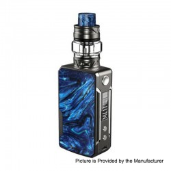 Authentic Voopoo Drag Mini 117W 4400mAh TC VW Box Mod + UForce T2 Tank Kit - Platinum-Prussian Blue, 5~117W, 0.6 / 0.13 Ohm, 5ml
