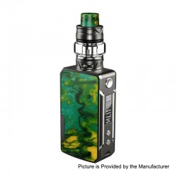 Authentic Voopoo Drag Mini 117W 4400mAh TC VW Box Mod + UForce T2 Tank Kit - Platinum-Lime, 5~117W, 0.6 / 0.13 Ohm, 5ml