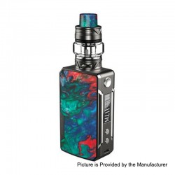 Authentic Voopoo Drag Mini 117W 4400mAh TC VW Box Mod + UForce T2 Tank Kit - Platinum-Coral, 5~117W, 0.6 / 0.13 Ohm, 5ml