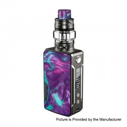 Authentic Voopoo Drag Mini 117W 4400mAh TC VW Box Mod + UForce T2 Tank Kit - Platinum-Purple, 5~117W, 0.6 / 0.13 Ohm, 5ml