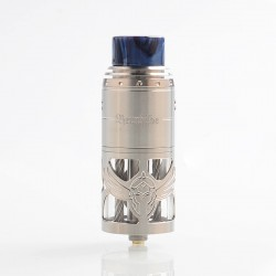 Authentic Vapefly Brunhilde Top Coiler RTA Rebuildable Tank Atomizer - Silver, Stainless Steel, 8ml, 25mm Diameter