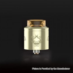 Authentic GeekVape Tengu RDA Rebuildable Dripping Atomizer w/ BF Pin - Gold, Stainless Steel, 24mm Diameter