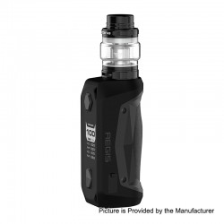 Authentic GeekVape Aegis Solo 100W TC VW Variable Wattage Mod + Cerberus Tank Kit - Black, 5~100W, 1 x 18650, 5.5ml, 0.3 Ohm