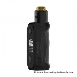 Authentic GeekVape Aegis Solo 100W TC VW Variable Wattage Mod + Tengu RDA Kit - Black, 5~100W, 1 x 18650, 24mm Diameter