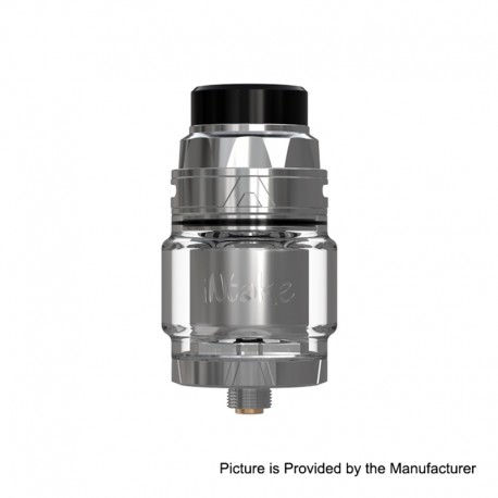 [Ships from Germany2] Authentic Augvape Intake RTA Rebuildable Tank Atomizer - Silver, Stainless Steel, 4.2ml, 24mm Diameter