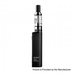 [Ships from Germany2] Authentic Justfog J-Easy 9 900mAh Mod + Q16 Clearomizer Starter Kit - Black, 2ml, 1.6 Ohm