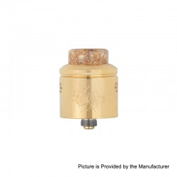 [Ships from Germany2] Authentic Wotofo Profile RDA Rebuildable Dripping Atomizer w/ BF Pin - Gold, SS, 24mm Diameter