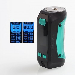 [Ships from Germany2] Authentic GeekVape Aegis Mini 80W 2200mAh TC VW Variable Wattage Box Mod - Black + Green, 5~80W