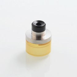 SXK Replacement Top Refill Tank + Drip Tip Kit for 22mm KF Lite 2019 Style RTA - Silver + Ultem, 316 Stainless Steel + PEI + POM