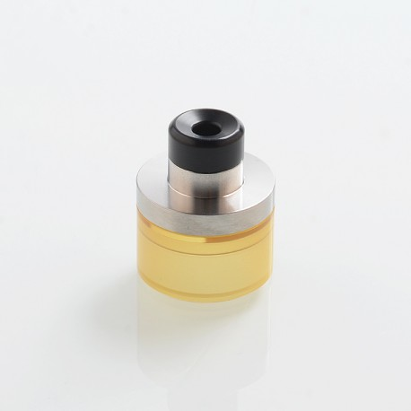 SXK Replacement Top Refill Tank + Drip Tip Kit for 24mm KF Lite 2019 Style RTA - Silver + Ultem, 316 Stainless Steel + PEI + POM