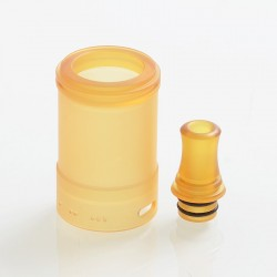 YFTK Replacement 510 Drip Tip + Tank Tube for TROYA MV2 Style MTL RTA - Ultem, PEI, 3.7ml