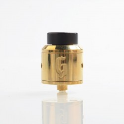 Authentic 528 Customs Goon RDA Rebuildable Dripping Atomizer w/ BF Pin - Brass, Brass + Stainless Steel, 25mm Diameter