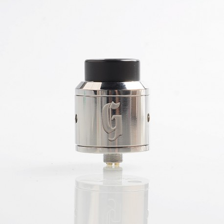 Authentic 528 Customs Goon RDA Rebuildable Dripping Atomizer w/ BF Pin - Silver, Stainless Steel, 25mm Diameter