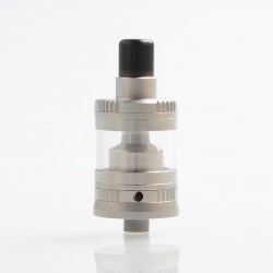 Gem Mini Style RTA Rebuildable Tank Atomizer - Silver, Stainless Steel + Glass, 2ml, 22mm Diameter