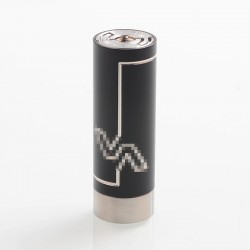 Vicious A Phenom Style Mechanical Tube Mod - Black, Stainless Steel, 1 x 18350