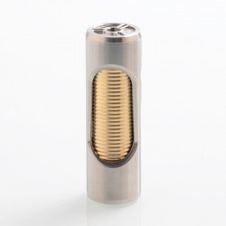 Noname Oldboy Style Hybrid Mechanical Tube Mod - Silver, Stainless Steel + Brass, 1 x 18650