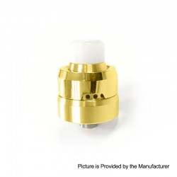 YFTK Auco Style RDA Rebuildable Dripping Atomizer w/ BF Pin - Gold, 316 Stainless Steel, 22mm Diameter