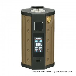 Authentic DEJAVU DJV D7 180W TC VW Variable Wattage Box Mod - Sand Yellow, 5~180W, 2 x 18650