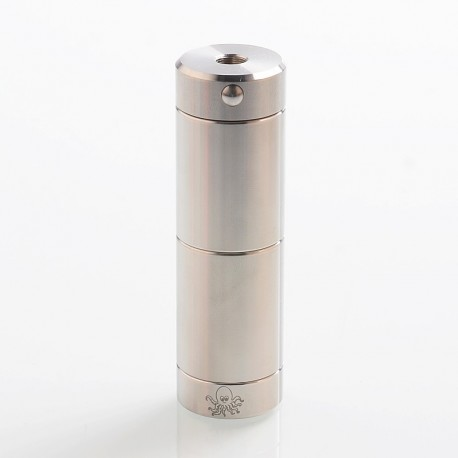 [Ships from Germany] Authentic Cthulhu Tube Dual MOSFET Semi-Mechanical Mod - Silver, 1 x 18350 / 18650, 24mm Diameter