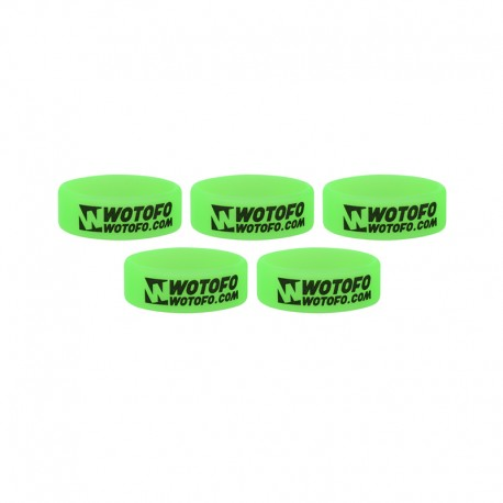 Authentic Wotofo Vape Band Tank Protector Silicone Anti-slip Ring - Green (5 PCS)