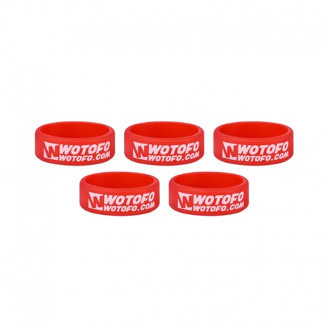 Authentic Wotofo Vape Band Tank Protector Silicone Anti-slip Ring - Red (5 PCS)