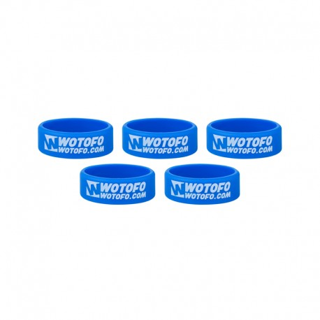 Authentic Wotofo Vape Band Tank Protector Silicone Anti-slip Ring - Blue (5 PCS)