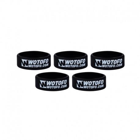 Authentic Wotofo Vape Band Tank Protector Silicone Anti-slip Ring - Black (5 PCS)