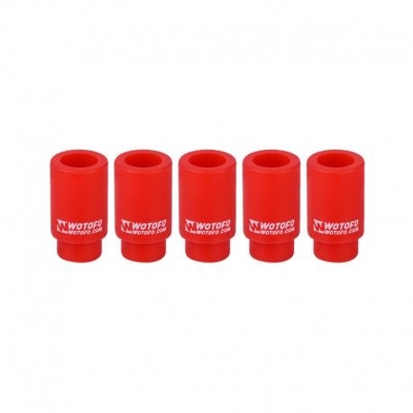 Authentic Wotofo Disposable 510 Drip Tip for RDA / RTA / Sub Ohm Tank Atomizer - Red, Silicone (5 PCS)