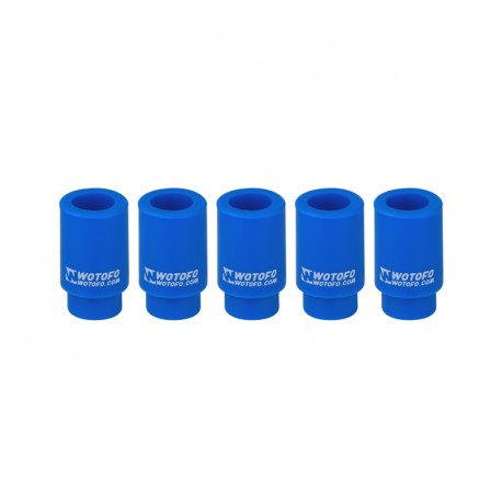 Authentic Wotofo Disposable 510 Drip Tip for RDA / RTA / Sub Ohm Tank Atomizer - Blue, Silicone (5 PCS)