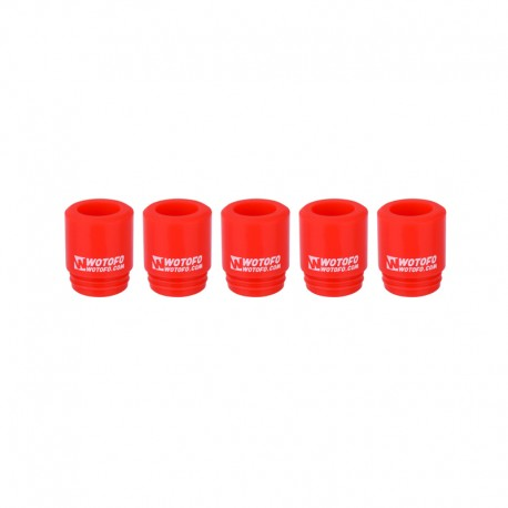 Authentic Wotofo Disposable 810 Drip Tip for RDA / RTA / Sub Ohm Tank Atomizer - Red, Silicone (5 PCS)