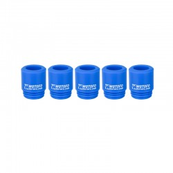 Authentic Wotofo Disposable 810 Drip Tip for RDA / RTA / Sub Ohm Tank Atomizer - Blue, Silicone (5 PCS)
