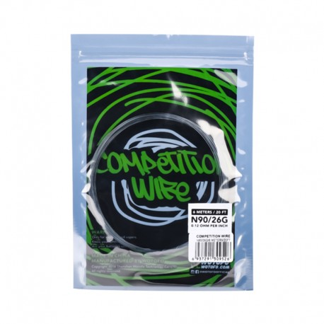 Authentic Wotofo NI90 Competition Heating Resistance Wire - 0.12 Ohm, 26GA (20 Feet / Spool)