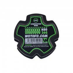 Authentic Wotofo NI80 Competition Heating Resistance Wire - 36GA (300 Feet / Spool)