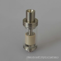 Authentic Yiloong Fogger 16 MTL RTA Rebuildable Tank Atomizer - Silver, Stainless Steel, 2ml, 16mm Diameter