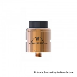 Authentic Oumier Armadillo RDA Rebuildable Dripping Atomizer - Champagne Gold, Stainless Steel, 24mm Diameter