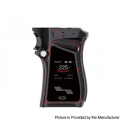 Authentic SMOKTech SMOK Mag 225W TC VW Variable Wattage Mod Right-Handed Edition - Black with Red Spray, 6~225W, 2 x 18650